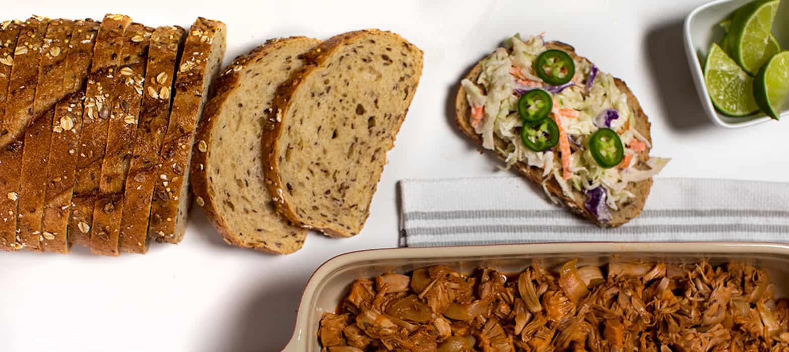 Stonemill Bakehouse Multigrain Pulled Jackfruit Sandwich