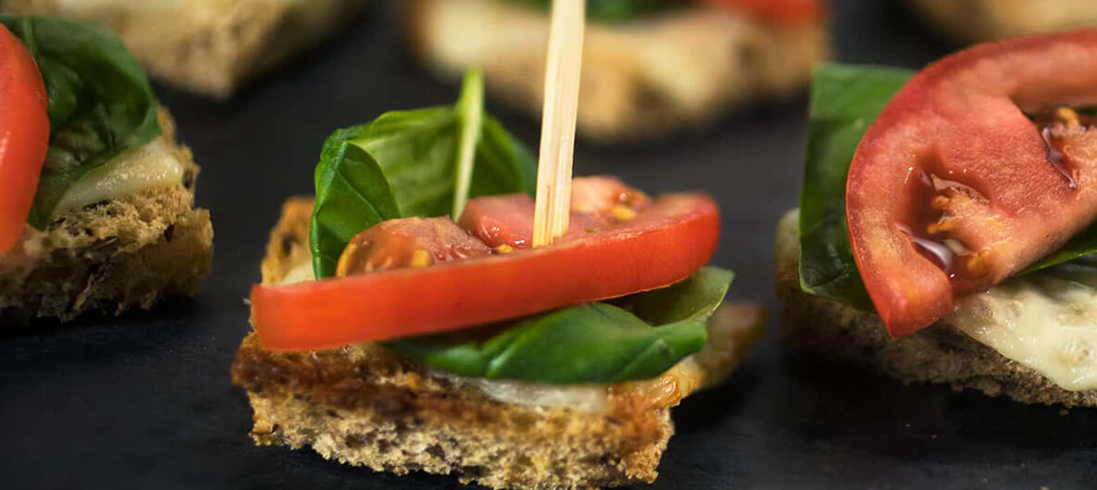 Stonemill Bakehouse Easy Cheesy Sprouted Flax Caprese