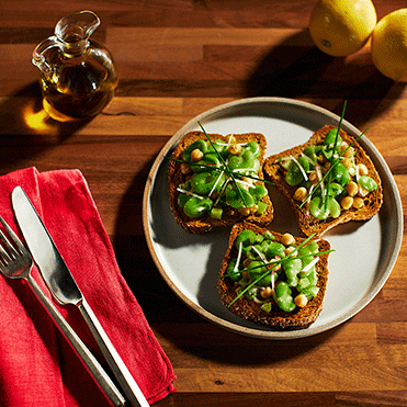 Stonemill Bakehouse Sprouted Rye & 12 Grains Fava Bean Bruschetta
