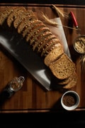 Stonemill Bakehouse bread sliced on cutting board