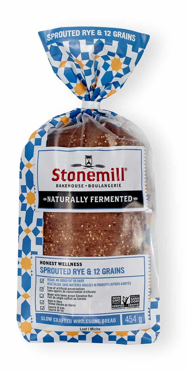 Stonemill Bakehouse Sprouted Rye & 12 Grains bread
