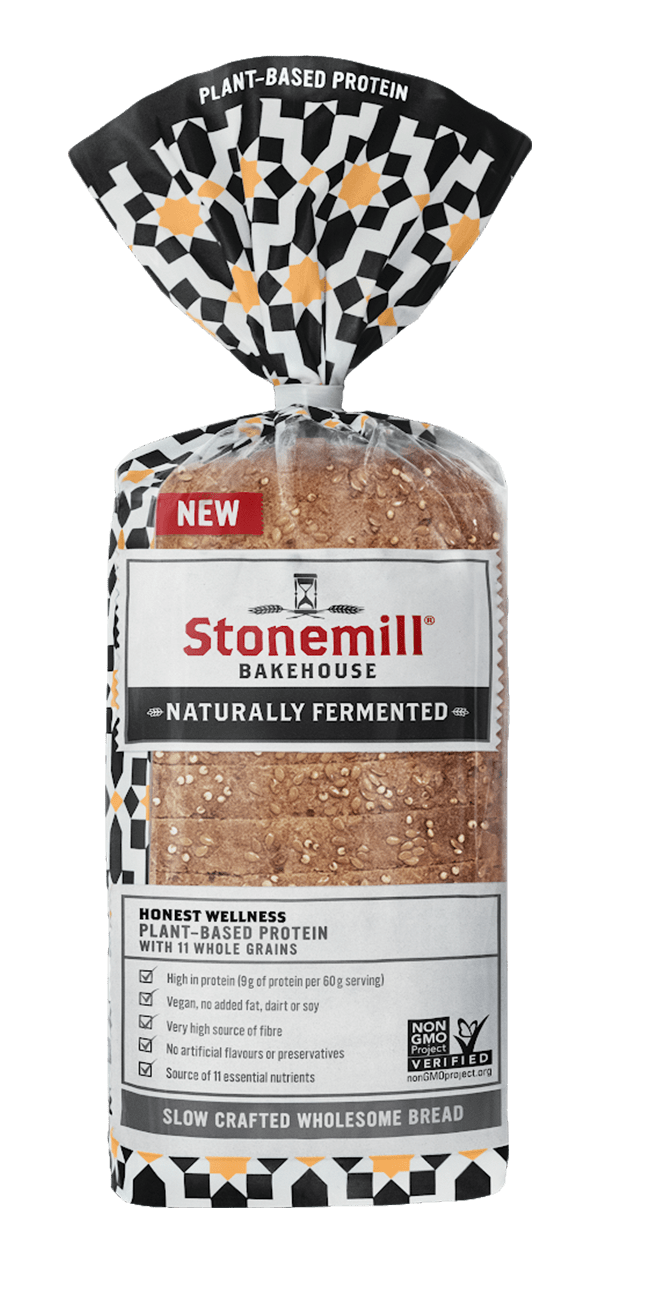 Stonemill Bakehouse Plant-based Protein with 11 Whole Grains bread