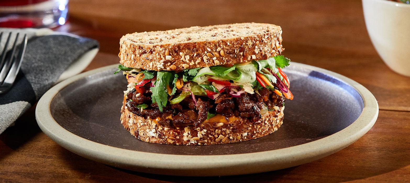 Stonemill Bakehouse Chia & Supergrains Steak & Slaw Sandwich
